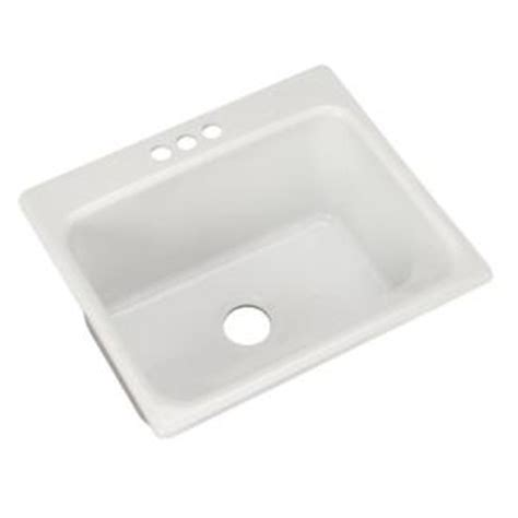 Thermocast Kensington Drop In Acrylic 25 in. 3 Hole Single