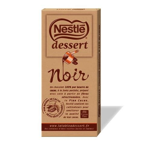 tablette chocolat nestle dessert tablette de chocolat nestle dessert noir le club nestl 233 antilles guyane