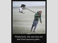Windig heute, aber man muss mit dem Hund spazieren gehen