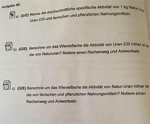 Teilstrom Berechnen : spezifische aktivit t von banane uran 235 aufgaben von a b c 48 49 ab 48 formel ~ Themetempest.com Abrechnung