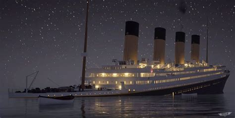 video recreate  sinking   titanic  real time sbs news