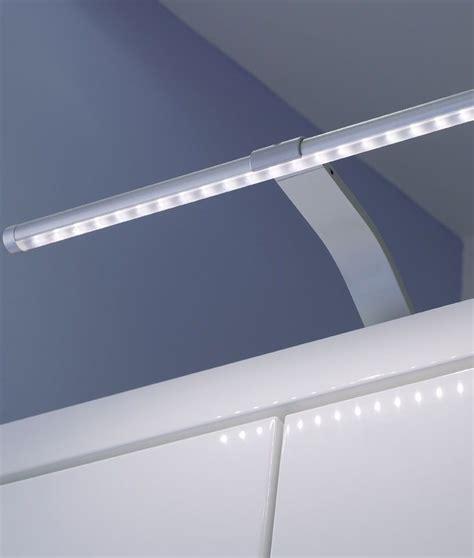 slim led cabinet light on swan neck bracket