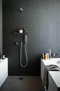 Faience Blanche Salle De Bain : la salle de bain noir et blanc les derni res tendances ~ Dailycaller-alerts.com Idées de Décoration