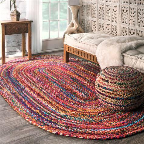 braided doormat nuloom casual handmade braided cotton multi rug 3 x 5