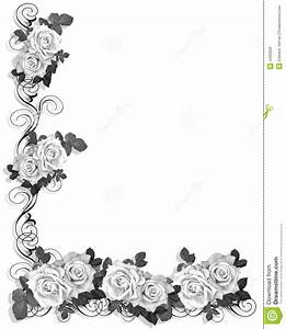 14 Black And White Border Designs Images - Black and White ...