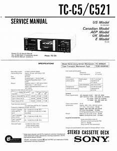 Free Download Sony Tc C521 Service Manual