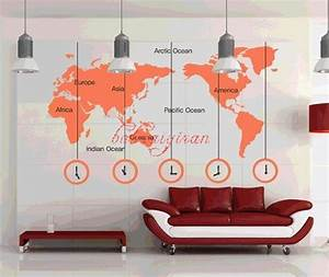 map of the world vinyl wall sticker by babaaiyiran With kitchen cabinets lowes with world map wall art stickers
