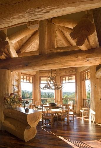 Back To Roots, Back To Wood With Log Home Interiors