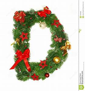 christmas alphabet letter d stock photo image 16640008 With large christmas letters