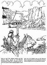 Coloring Dover Publications Pages Trapper Mountain Trapping Doverpublications Adult Books Fur Welcome History Indian Native Template Sketch Zb Samples sketch template