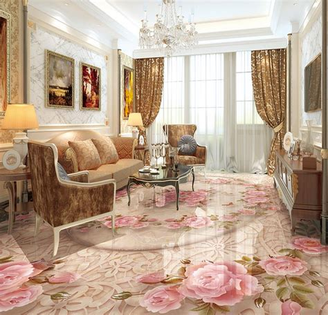 chinese  floor marble relief lace flower tiles wallpaper