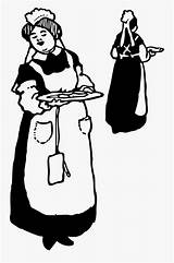 Coloring Server Waitresses Clipart Clipartkey sketch template