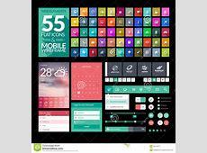 Set Of Flat Design Icons, Elements, Widgets Stock Image
