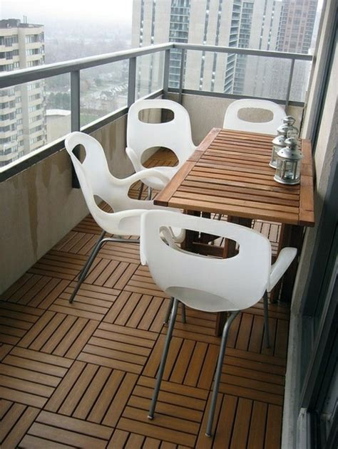 How To Lay Decking On Soil by Wood Tiling Wooden Floor On The Balcony Interior