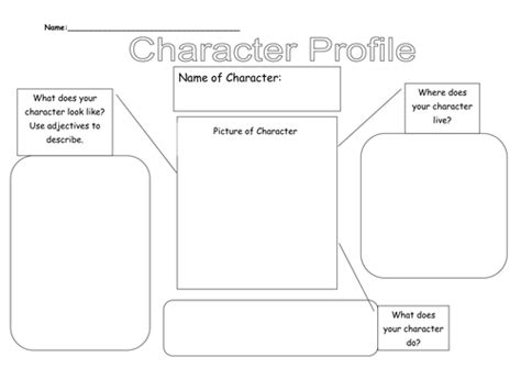 Character Profile By Lauraexplorer  Teaching Resources Tes