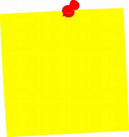 Yellow Clip Clipart Notes Cliparts Posit Square