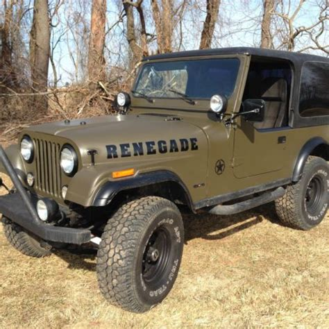 jeep renegade convertible buy used low reserve 1978 jeep cj7 renegade convertible