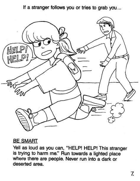 stranger safety for preschoolers danger coloring pages 23864 bestofcoloring 504
