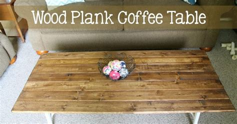 Melanie Gets Married Wood Plank Coffee Table