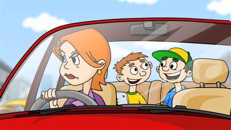 Cartoon Cars Stock Footage Video