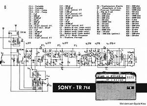 Sony Tr714 Transistor Pocket Radio Sch Service Manual