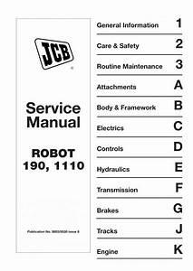 Jcb Robot 190  1110 Skid Steer Loader Service Manual