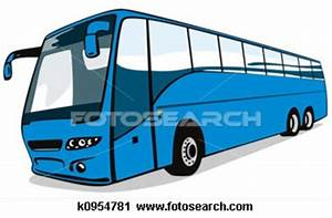 Blue Coach Bus K | Free Images at Clker.com - vector clip ...