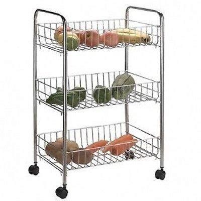 vegetable storage trolley kitchen 3 tier kitchen cart rack storage shelf caddy fruit 6755