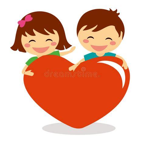 Child Holding Heart Clip Art