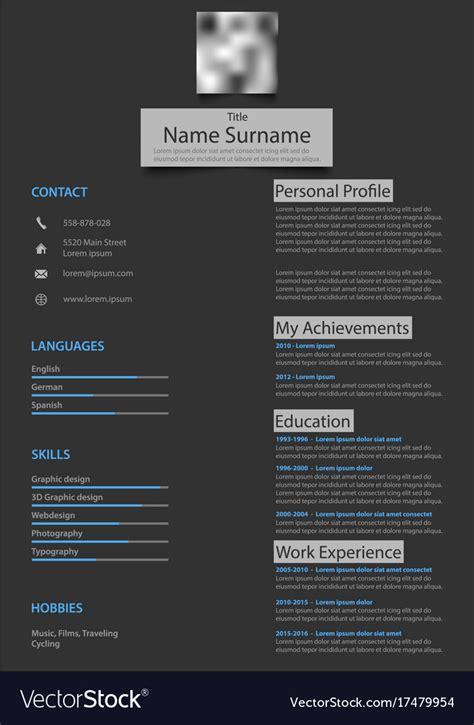 Resume Background by Resume Background Image Resume Template Cv Creative