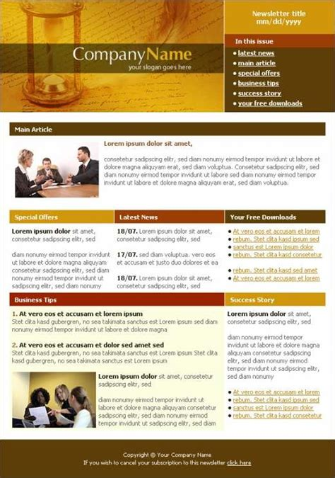 legal consulting newsletter template templatesboxcom