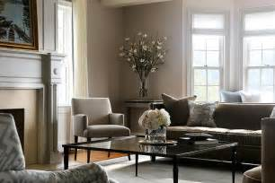 Brown Livingroom Gray And Brown Living Room With Glass Coffee Table Transitional Living Room