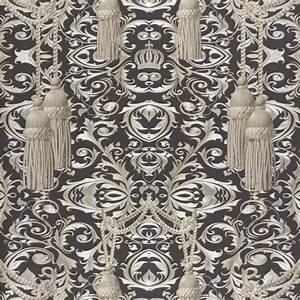 Tapeten Berechnen : harald gl ckler tapeten schwarz vorhang gardinen 52530 designer tapete ~ Themetempest.com Abrechnung