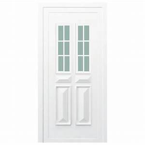 Porte D Entrée Blanche : porte d 39 entr e pvc orne blanche 200x80cm gauche ~ Melissatoandfro.com Idées de Décoration