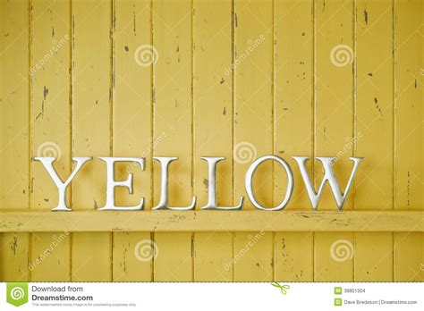 yellow color word background stock photo image