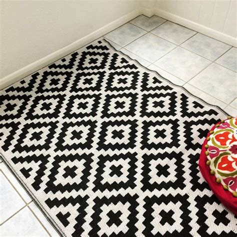 black and white outdoor rug nirvana black and white