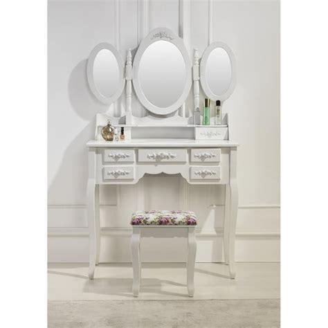 coiffeuse baroque pas cher coiffeuse blanche avec si 232 ge et 3 miroirs achat vente coiffeuse coiffeuse blanche avec si 232 g
