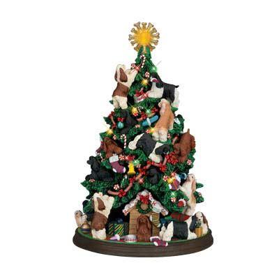 cocker spaniel christmas tree  danbury mint