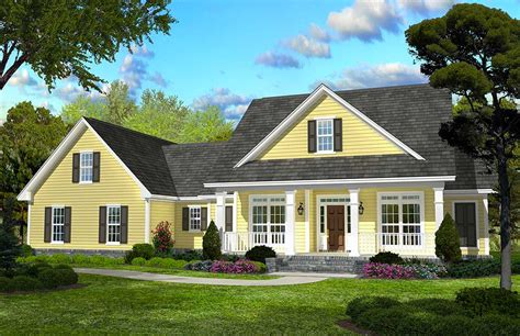 Classic Country Style Home Plan - 11745HZ | Architectural ...