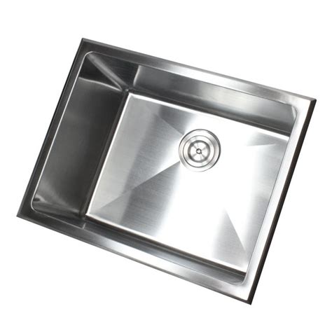 23 inch undermount drop in stainless steel single bowl