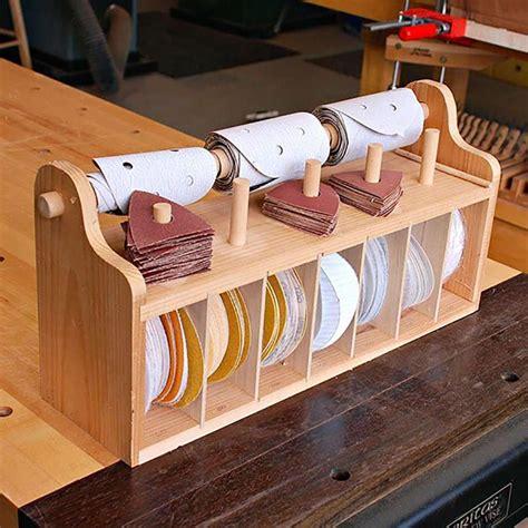 bench top sanding disc caddy woodworking plans workshop