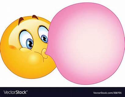 Gum Bubble Vector Vectorstock Royalty Vectors