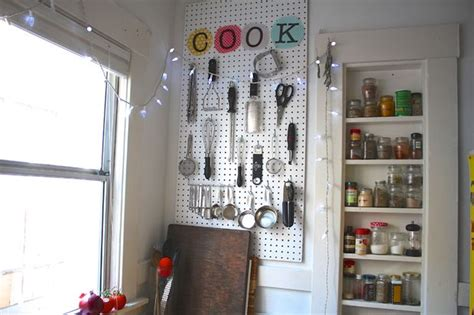 pegboard kitchen organizer 40 clever storage ideas for a small kitchen 1445