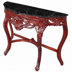 Console Baroque Noire : console de style baroque bois teint acajou et marbre noir ~ Teatrodelosmanantiales.com Idées de Décoration