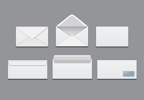 white blank envelopes vector   vector