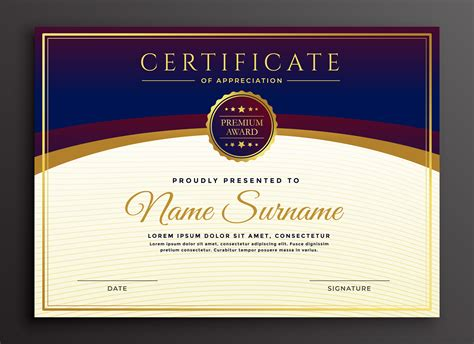 stylish certificate design professional template