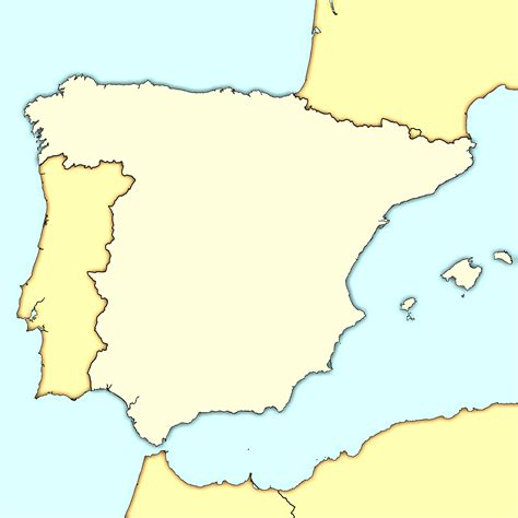 blank map  spain international culture spain map