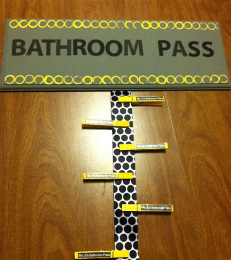 bathroom pass ideas pin by hilliger on classroom decor