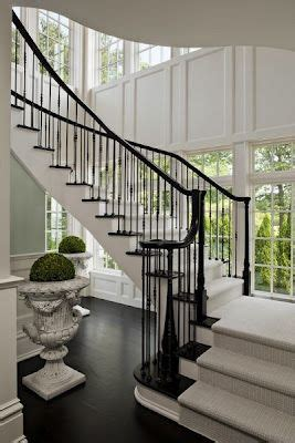 House With Hints Of Deco Detailing And A Smooth Neutral Palette by Beautiful Staircase And Interior Detailing Luxe