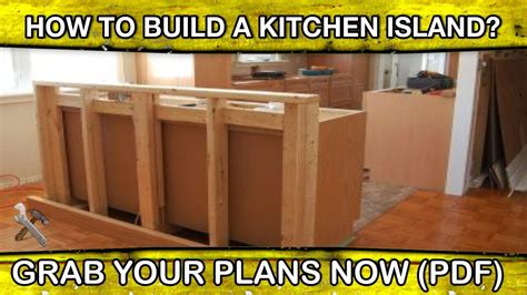 build  kitchen island  woodworking plans diy  youtube